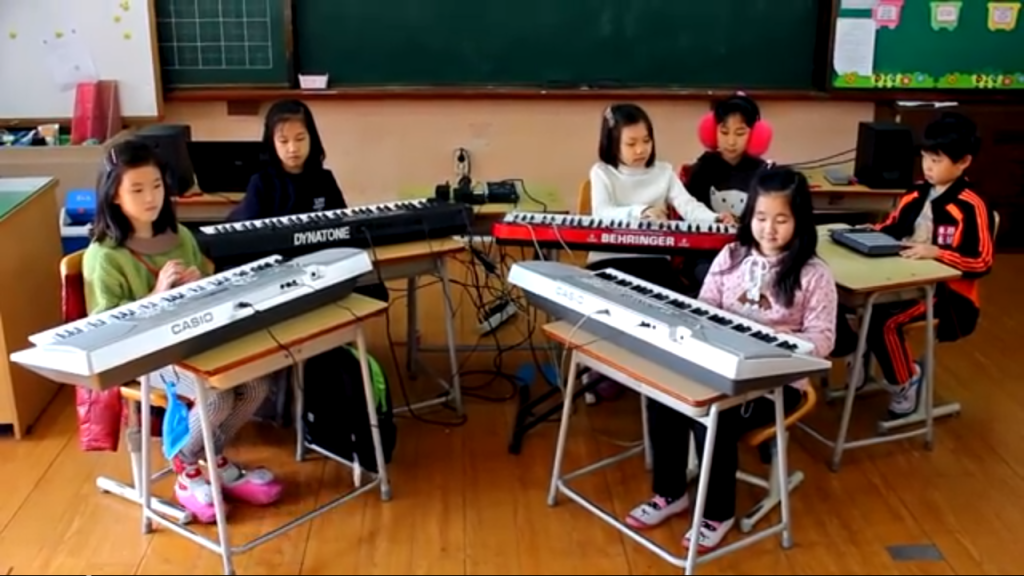 "2nd Grade South Korean Kids Covering Nujabes ""Aruarian Dance"""
