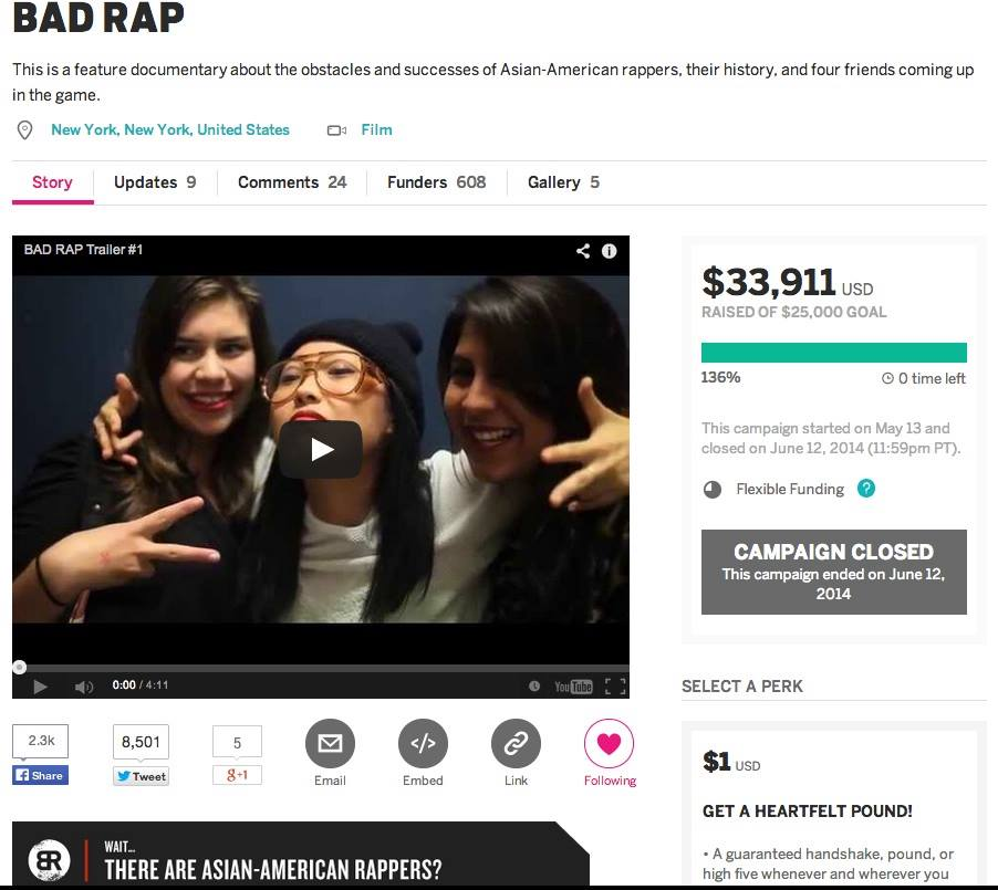 Bad Rap_Indiegogo_Final_Numbers
