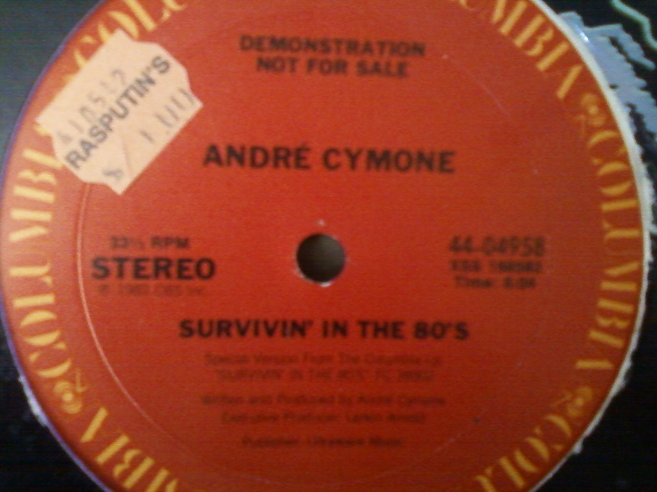 Andre Cymone - Survivin In The 80s -Label
