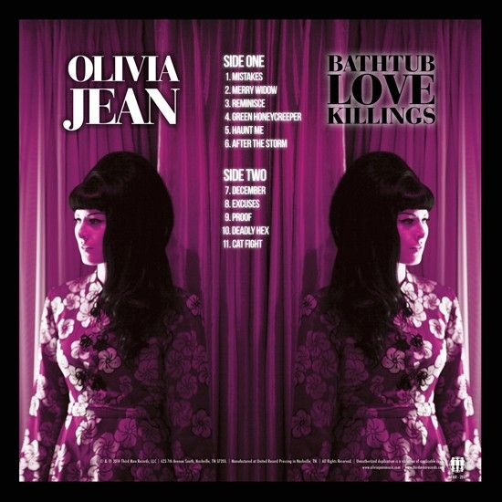 Olivia Jean ‎– Bathtub Love Killings - Back